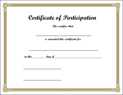 Free Printable Certificate 1