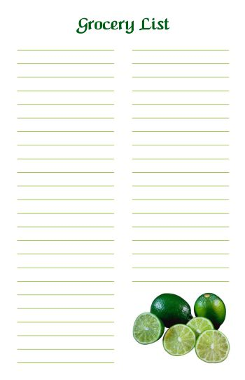 Free Printable Grocery List 3